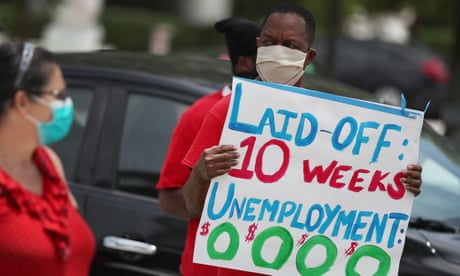 US job losses pass 40m as coronavirus crisis sees claims rise 2.1m in a week