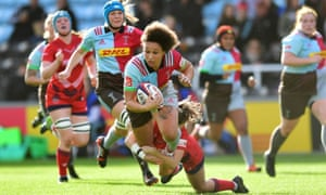 Brown on the charge for Harlequins against Bristol in October.