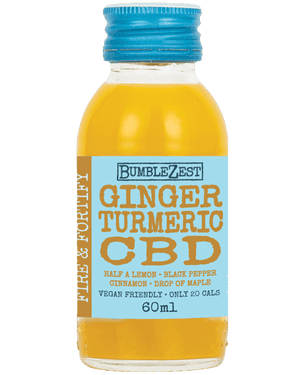 BumbleZest ginger, turmeric and CBD shot