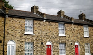 Terraced houses in Greenwich, south-east London.