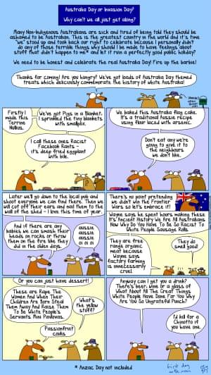 First Dog on the Moon Australia Day cartoon.