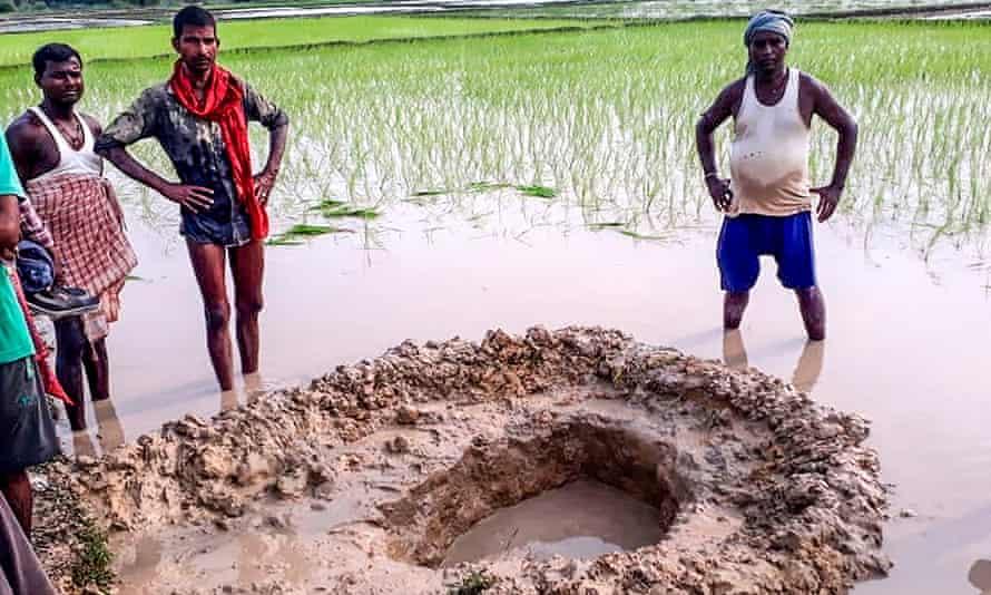 residents of Mahadeva village and hole