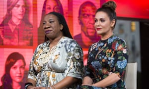 Tarana Burke and Alyssa Milano.