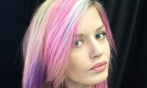 Georgia May Jagger has opted for multicoloured hair.