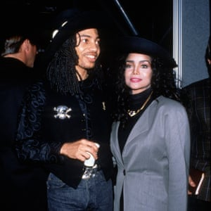 With Latoya Jackson in the late 80s.
