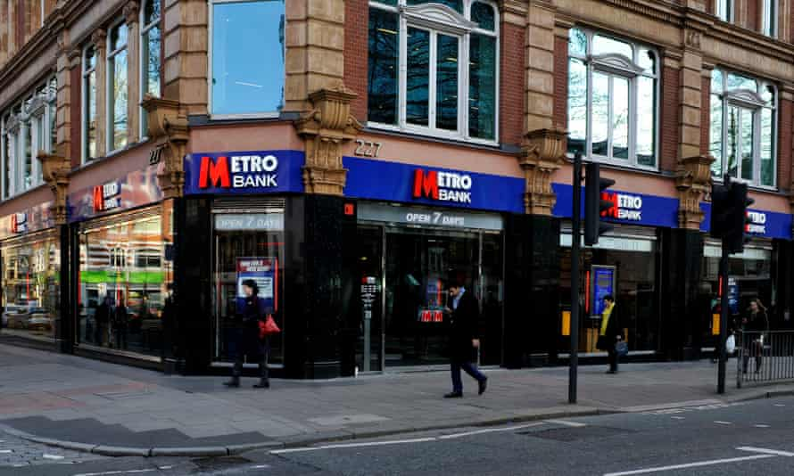 Metro Bank in Tottenham Court Road, London.