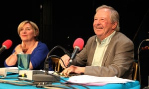 Tim Brooke-Taylor with fellow panellist Victoria Wood for a 2009 recording of BBC Radio 4's I'm Sorry I Haven't a Clue.