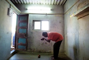 Sudesh, from Mumbai, India, praying, one of a series of self-portraits by people living with HIV