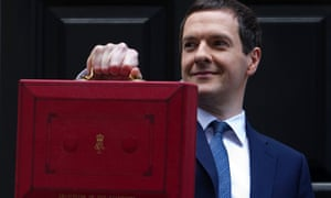George Osborne poses with the budget box
