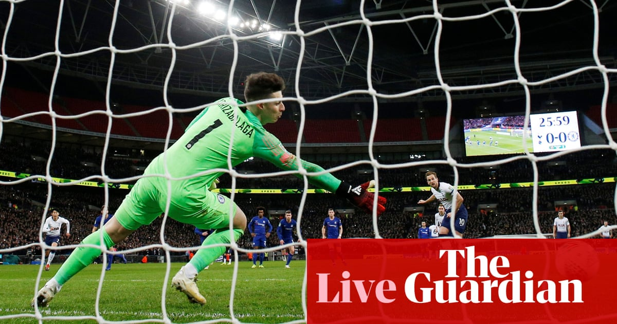 a4e2deffa4f Tottenham Hotspur 1-0 Chelsea: Carabao Cup semi-final – as it happened |  Football | The Guardian