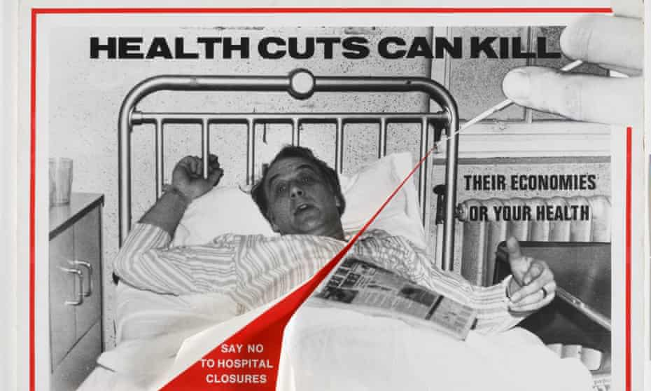 Health Cuts can Kill, one of many posters created by artists Loraine Leeson and Peter Dunn to support local anti-cuts campaigns in east London in the 1970s