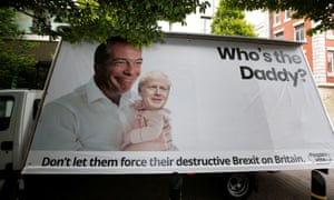 Banner outside Tory leadership hustings