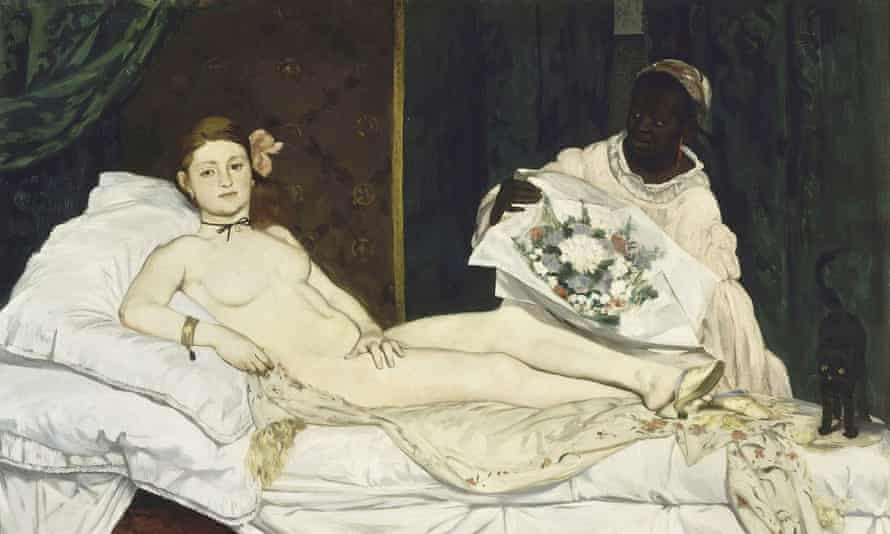 Olympia by Edouard Manet, the painting mimicked by De Robertis.