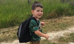 Three-year-old Olly Sheridan