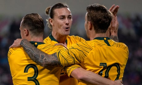 Australia hold on for narrow World Cup qualifying win in Jordan