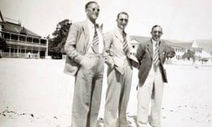 Reg Perks, Bryan Valentine and Eddie Paynter