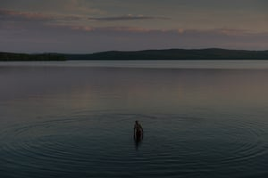 Jacques. First swim of the year in Mégantic Lake. June 2014