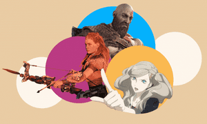 Clockwise from left: Horizon: Zero Dawn's Aloy, God of War's Kratos, Persona 5's Ann