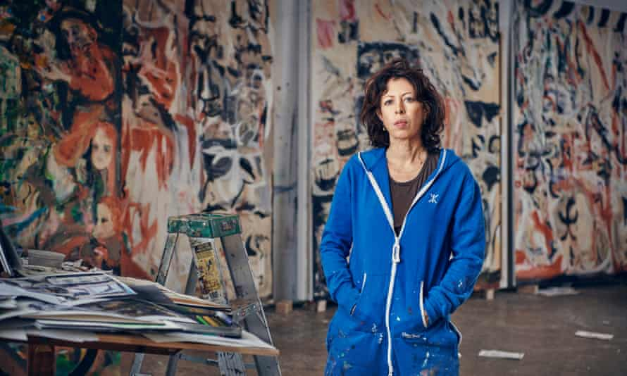 Cecily Brown in her studio.