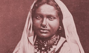An indentured woman, feature on the cover of Gaiutra Bahadur's book Coolie Woman: The Odyssey of Indenture.