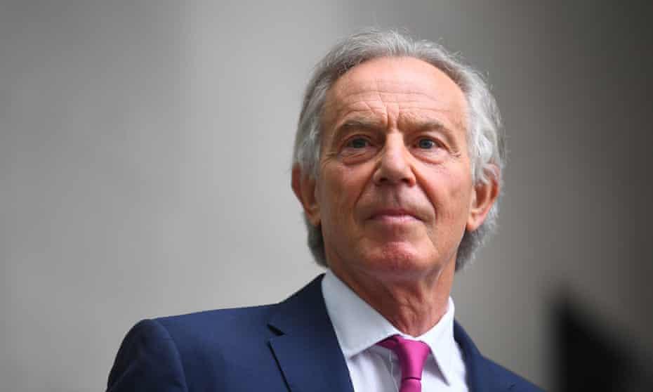 Tony Blair in June this year