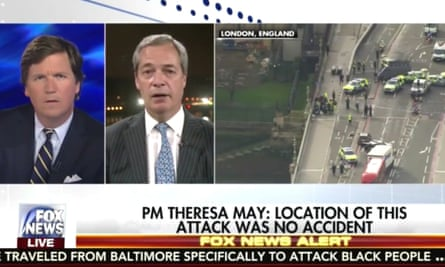 Nigel Farage talking about the terror attack on Westminster on Fox News