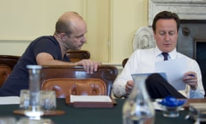 David Cameron in No 10 with his adviser Steve Hilton