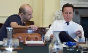 steve Hilton with david Cameron .