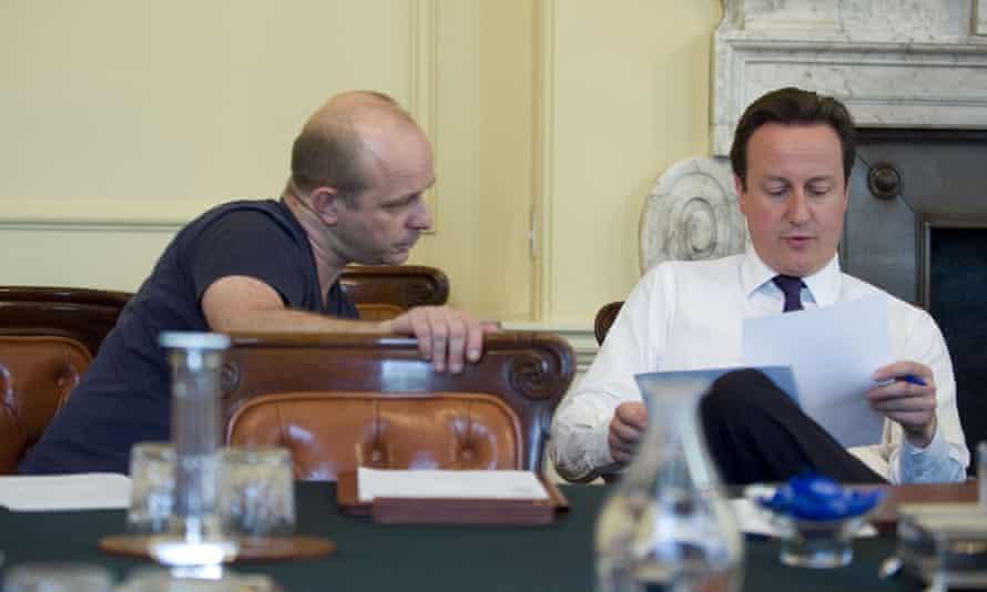 Steve Hilton with David Cameron
