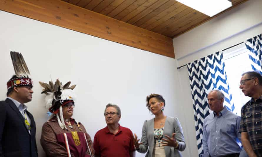 Waneek Horn-Miller, centre, in 2015. She moved out to Ottawa in 2014.