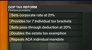 Some of the key points in the US tax bill