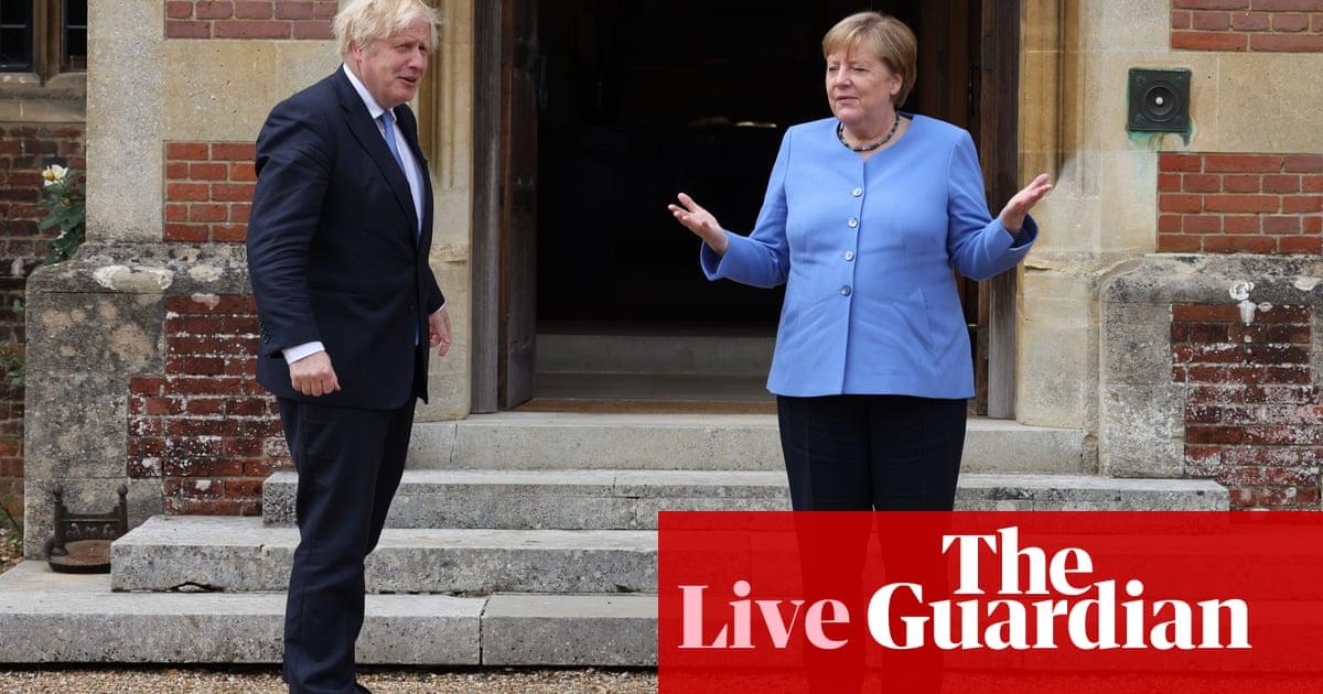 Brexit: Angela Merkel calls on Boris Johnson to find 'pragmatic solutions' on Northern Ireland protocol – live
