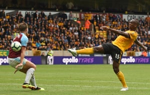 Boly shoots over.