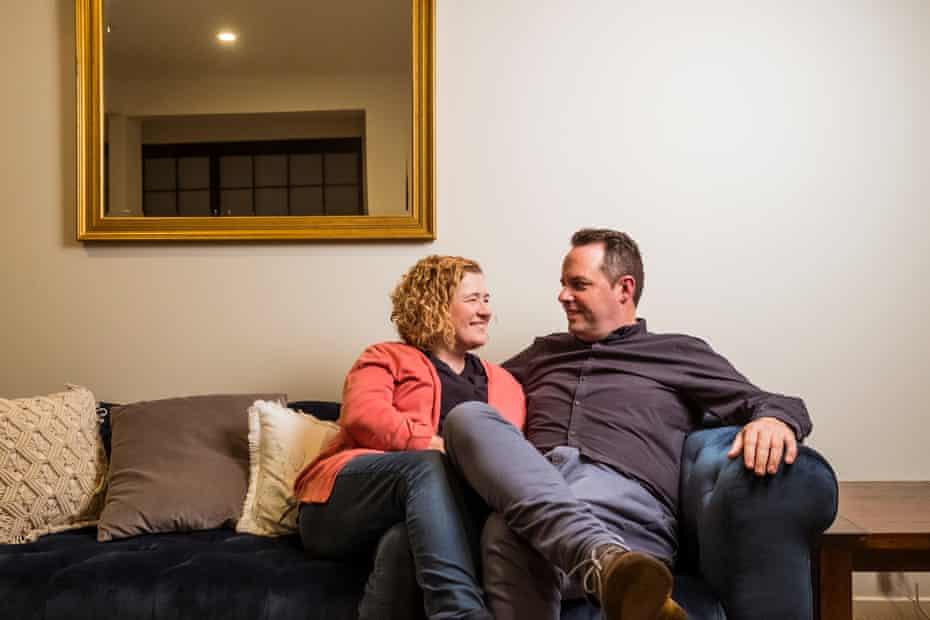 Gavin Balharrie with his wife, Trisha.