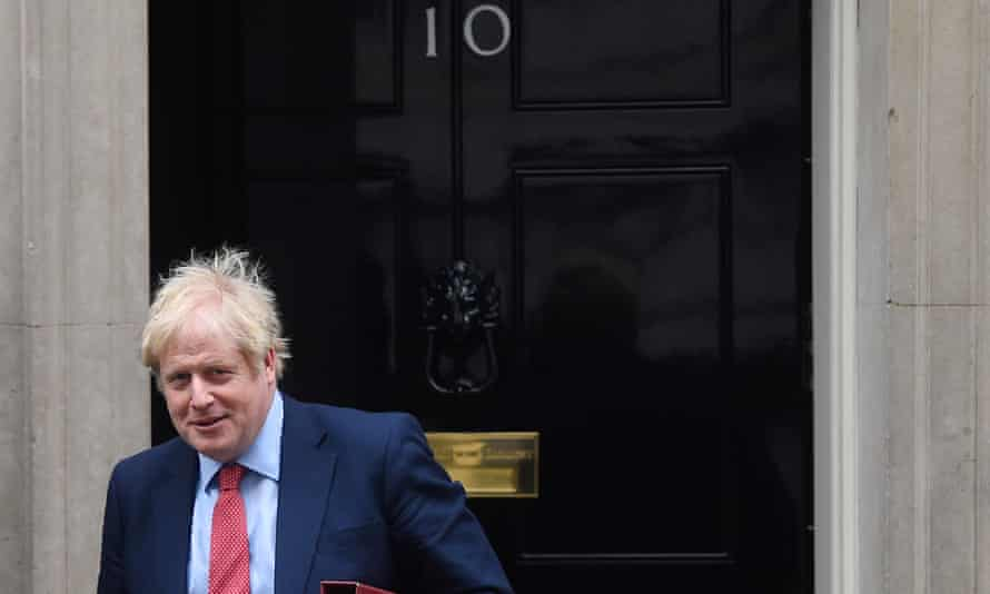 Boris Johnson on his way to PMQs: 'The emphasis on how the next Labour leader must be someone who can spook Johnson in PMQs is a preoccupation of the Westminster cult.'