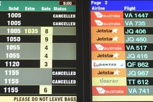 Flights are grounded at Coolangatta Airport.