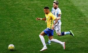 Barcelona team-mates Lionel Messi and Neymar