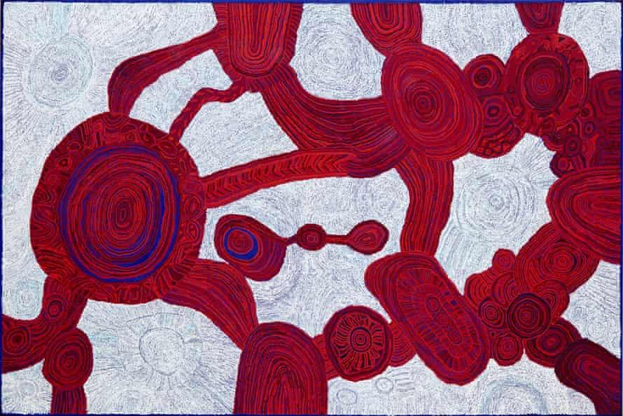 Wynne prize winner 2017 Betty Kuntiwa Pumani Antara acrylic on linen 200 x 300 cm © the artist