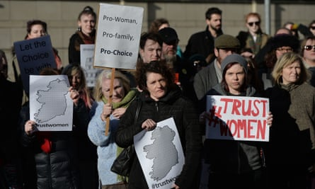 Pro-choice supporters in Belfast