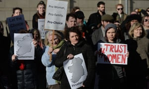 Pro-choice campaigners in Belfast