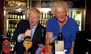 Boris Johnson with Tim Martin
