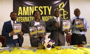Osai Ojigho, Amnesty's Nigeria Director, attends report launch in Abuja
