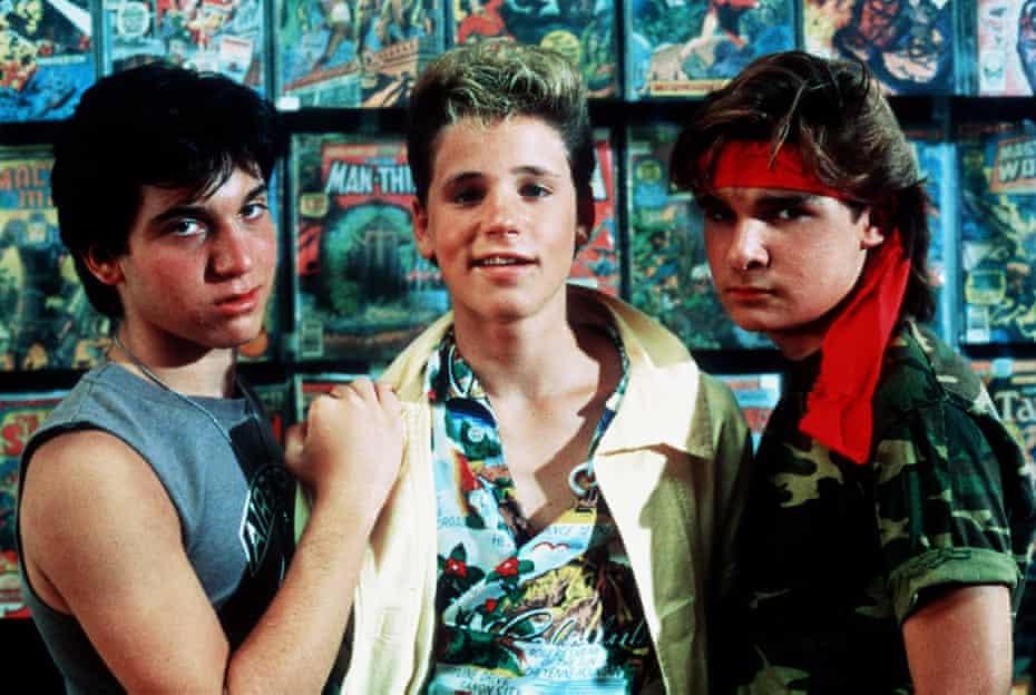 The Lost Boys ... Feldman (right) with Jamison Newlander (left) and Corey Haim.