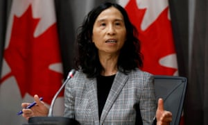 Canada's chief public health officer Dr. Theresa Tam attends a news conference.