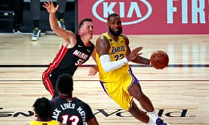 LeBron James drives to the basket for the Lakers on Wednesday night.