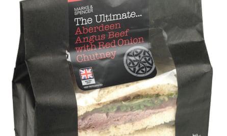 An M&S Aberdeen Angus beef bloomer