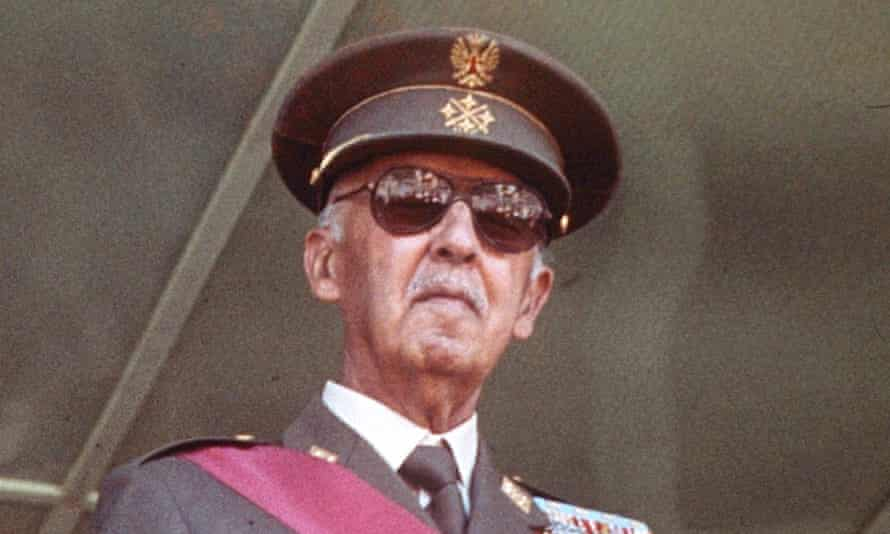 Spain's fascist dictator Francisco Franco, whose remains are set to be exhumed from a grand monument near Madrid.