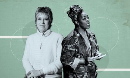 V (formerly Eve Ensler) and Mahogany L Browne