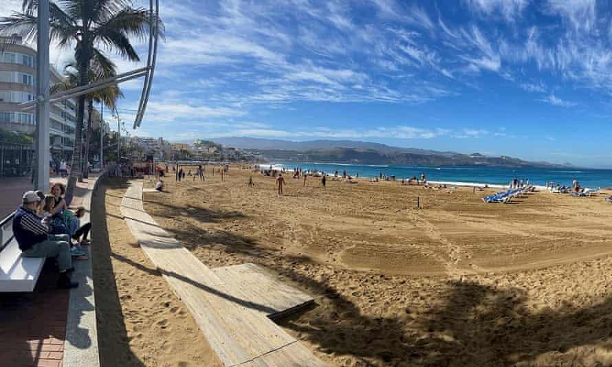 Las Canteras beach in Las Palmas de Gran Canaria, Canary Islands