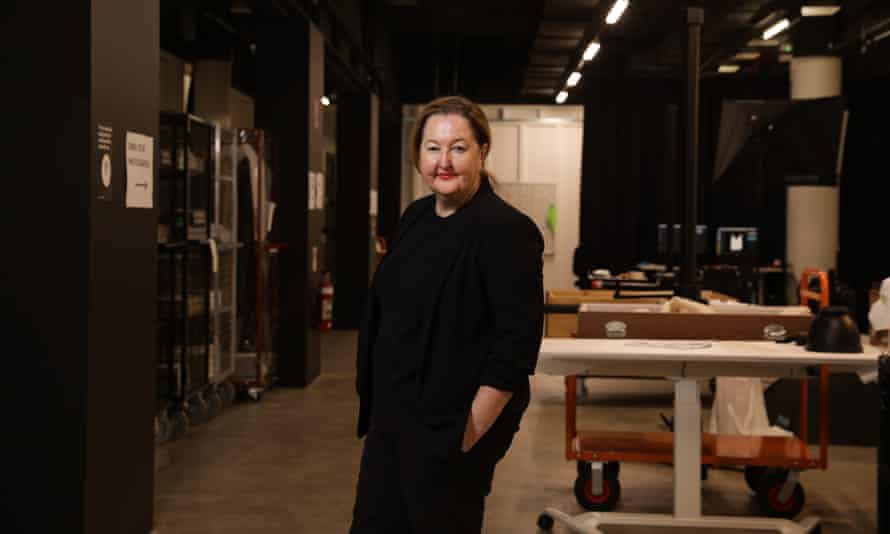 Powerhouse Chief Executive Lisa Havilah in the basement of the Powerhouse Museum with some artefact from an upcoming exhibition, Clay Dynasty opening on 28 May 2021.